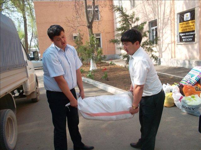 Продукты которые отправляют в Туркестанский район