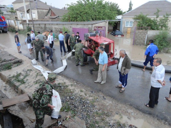 """Наводнение в микрорайоне """"Казыгурт"""""""