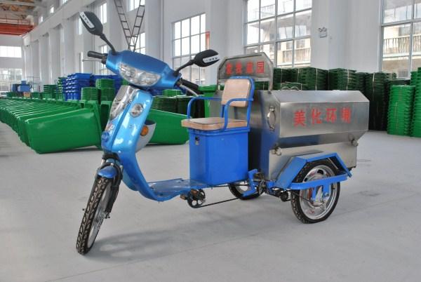 Трицикл для уборки мусора. Фото с сайта russian.plasticwastebin.com