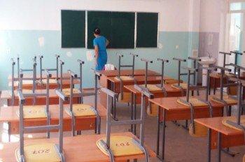 Во многих школах сейчас идут очистительные работы