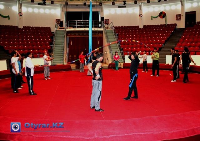 Шымкентские циркачи, готовятся в юбилею области