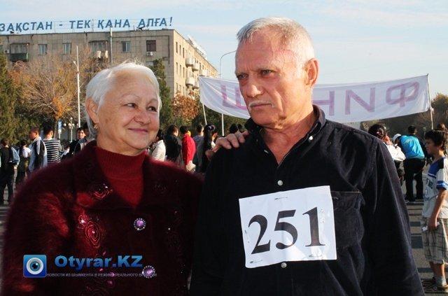 Юрий Остапенко рядом со своей супругой