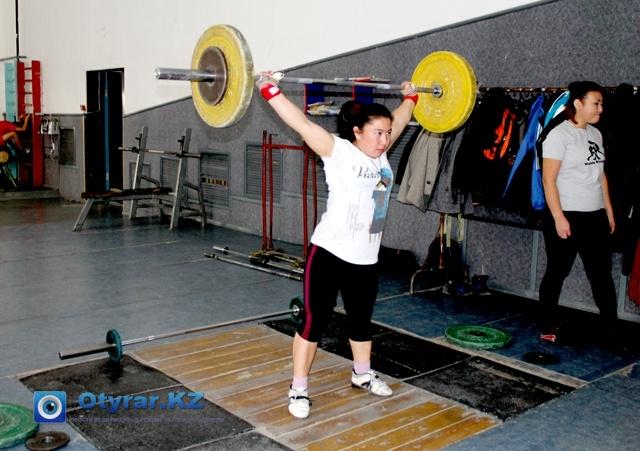 Майра Файзуллаева на тренировках