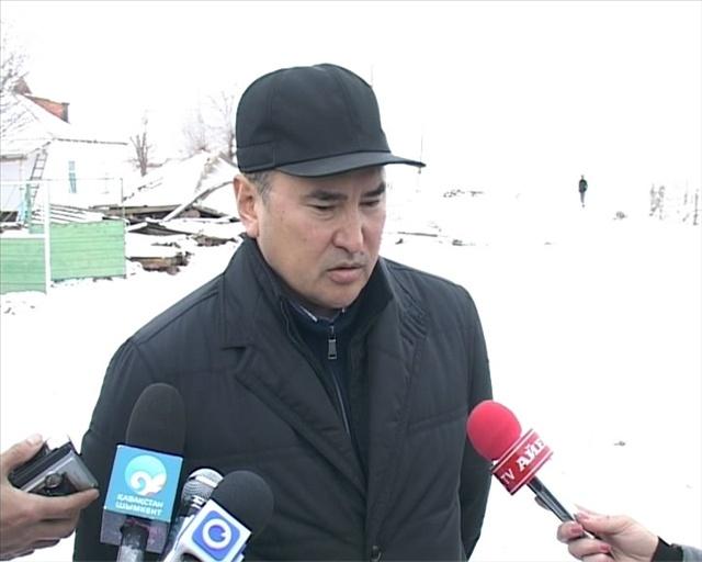 Аким ознакомился с последствиями природной стихии в селах