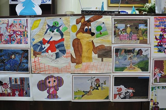 Конкурс рисунков. Ученики 4 класса рисовали любимых героев