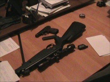Оружие, изъятое в качестве вещественных доказательств