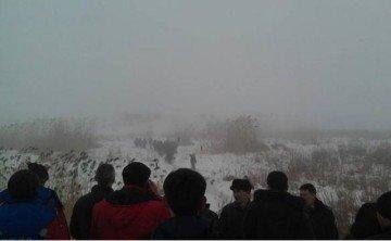Фото с места крушения. Алматы