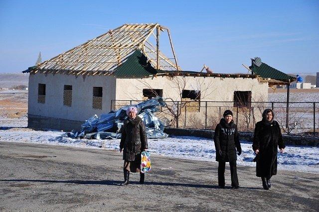 В аульном округе Жыныс требуется отремонтировать крыши 550 домов