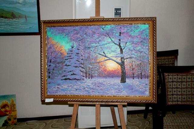 "Картина ""Зимнее утро"", художник Жайсанбаев"