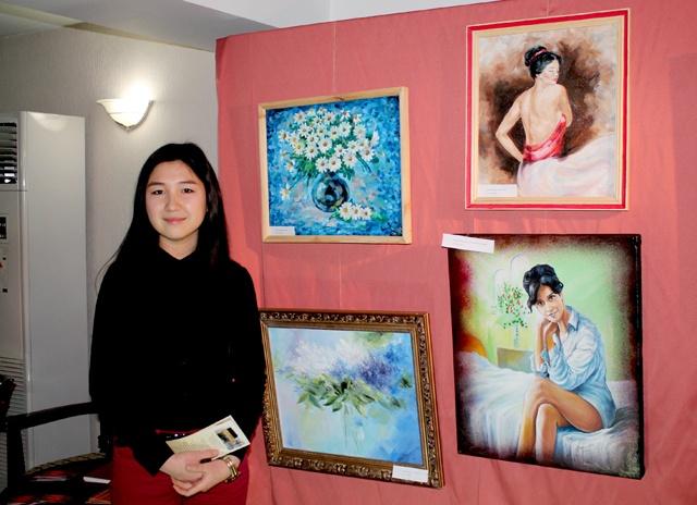 Молодой художник Камалия Араббаева