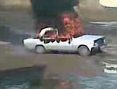 Автомобиль вспыхнул возле ЦОНа