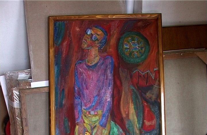 Картины Потехина хранятся в его старой мастерской