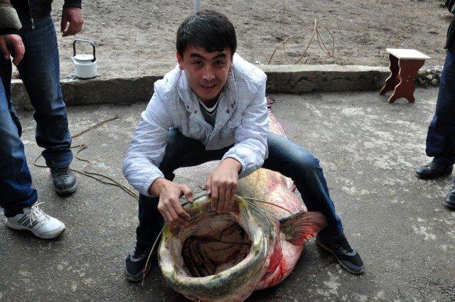 А это Мейрбек Толебаев, наш видеооператор. Тоже не мог удержаться