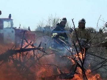 В Отрарском районе прошли учения пожарных