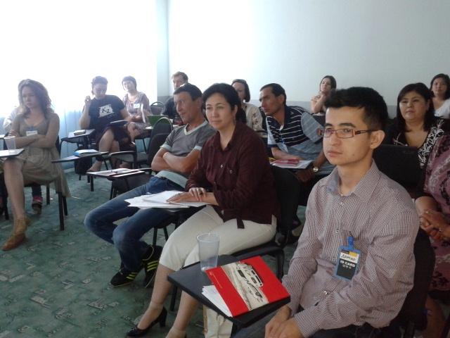 На тренинг приехали педагоги, журналисты, правозащитники из Киргизии, Узбекистана, и разных городов Казахстана