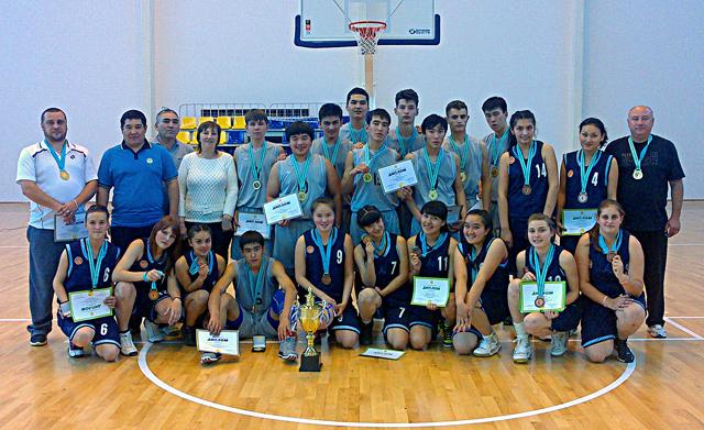 Чемпионы и призеры III молодежных игр РК по баскетболу. Мужская и женская молодежные сборные ЮКО.