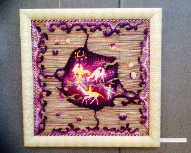 Еще один вариант петроглифа, выполненный в цвете бардо