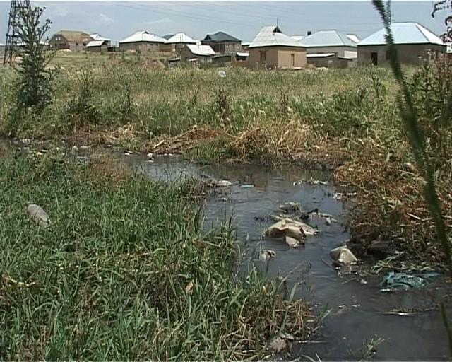 Канализационные воды растекаются по территории 190-го квартала Шымкента.