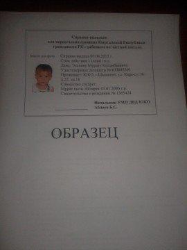 Справка для ввоза несовершеннолетних детей в Кыргызстан