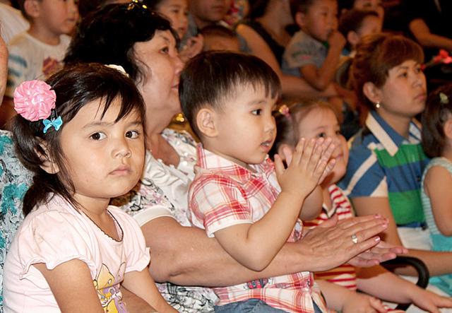 Выступление артистов цирка, юные зрители запомнят надолго