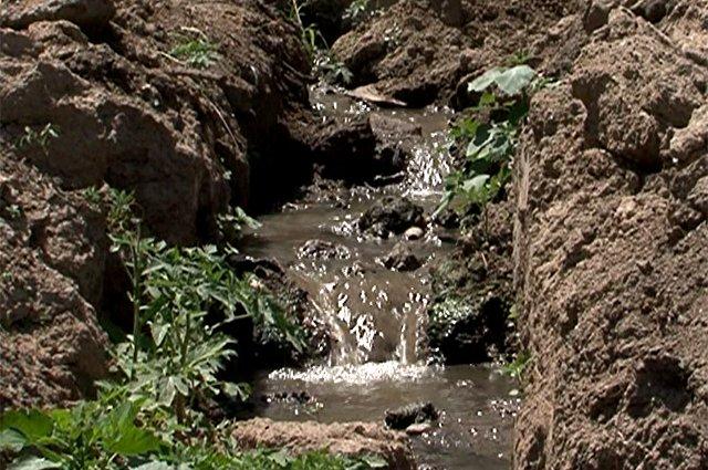 Все нечистоты сливаются в речку Ленгерку