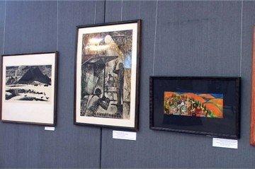 На выставке были представлены работы