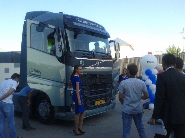 В шымкенте презентовали грузовик нового поколения VolVo FH