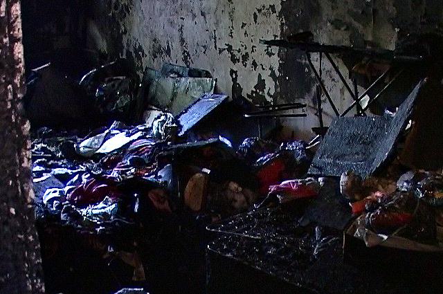 Из-за несвоевременного приезда пожарных, спасти имущество не удалось