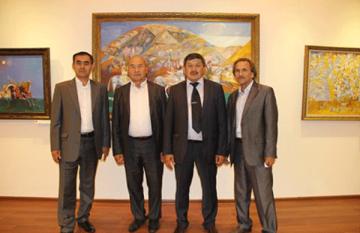 Выставка четырех художников из Шымкента