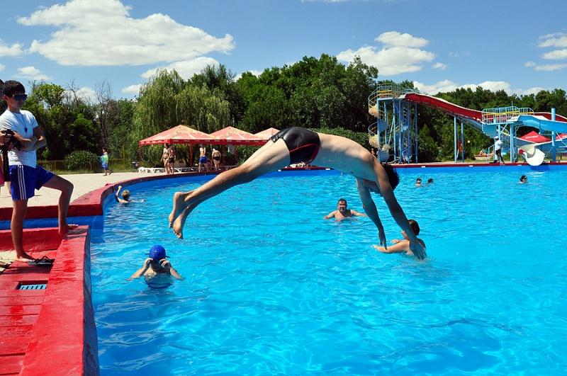 Без прыжков в воду не обошлось