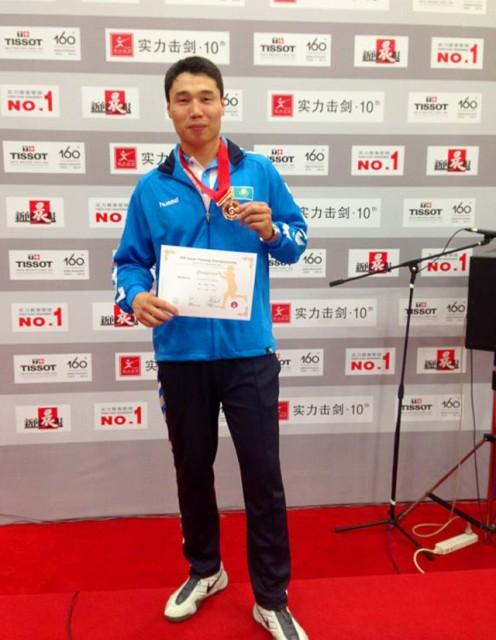 Ералы Тиленшиев, обладатель бронзовой медали чемпионата Азии