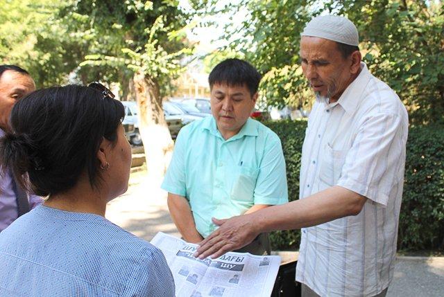 Абдраман Турмагамбетов на слушание пришел с двумя адвокатами