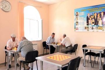 На данный момент в доме ветеранов работает только шахматный зал