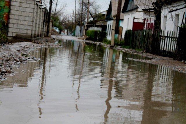 Вот так, после апрельских дождей выглядела улица