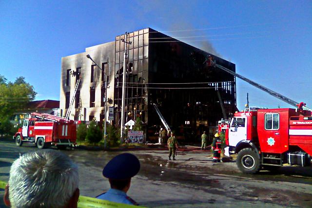 Пожар на аксукентском автовокзале