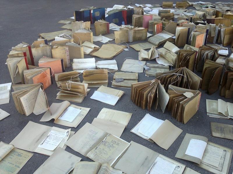 Документы архива после потопа