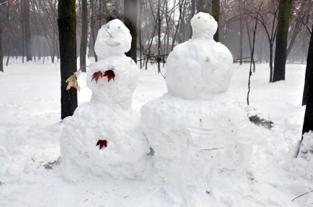 """Снежные """"секьюрити"""" охраняют покой дендропарка"""