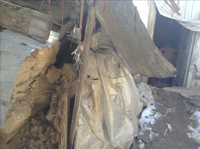 Дом обрушился после обильных осадков