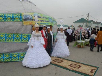 """Наурыз в микрорайоне Асар"""". Фото bnews.kz"""