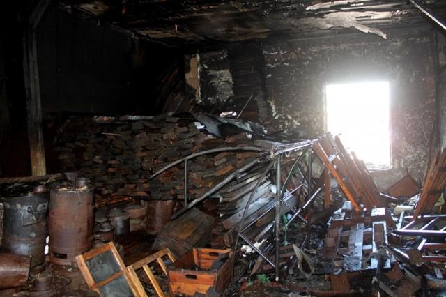 Багажное отделение после пожара
