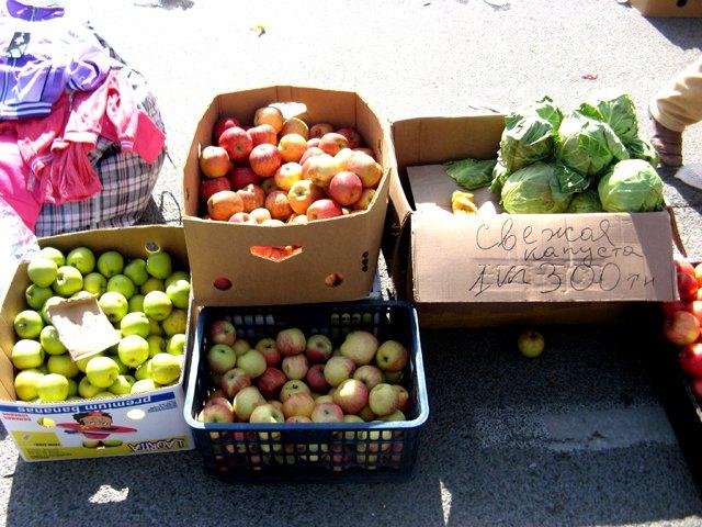 Яблоки можно было приобрести за 100-150 тенге за килограмм