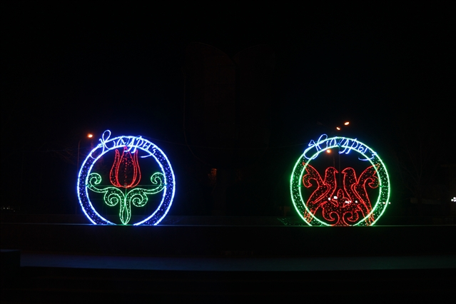 Шымкент украсили к празднику Наурыз