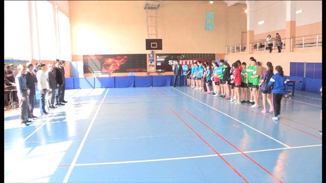 Открытие чемпионата Казахстана по настольному теннису