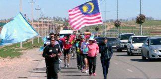 Пробег Малайзийской спортсменки в Шымкенте