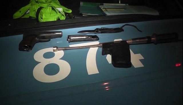 Оружие, найденное у подозреваемого