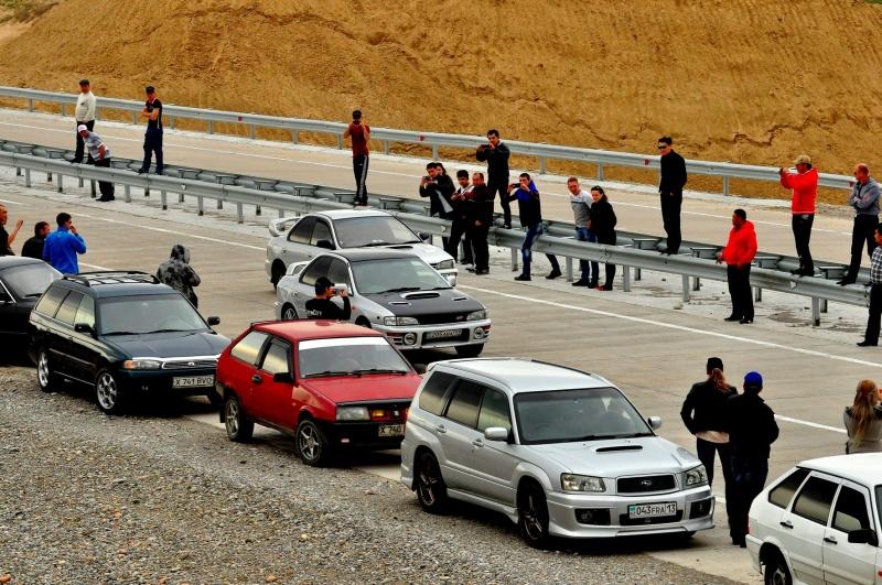 Subaru отправились на трассу