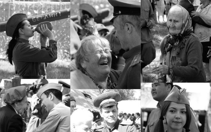 День Победы в Шымкенте (ч/б фотореп)