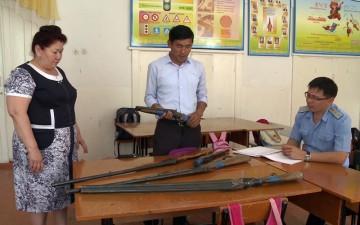 В прошлом году только в одной школе было изъято 7 единиц оружия