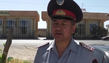 Командир специального взвода миграционной полиции ЮКО Абдразак Досанов