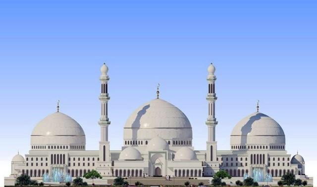 Вот так по проекту будет выглядеть строящаяся мечеть